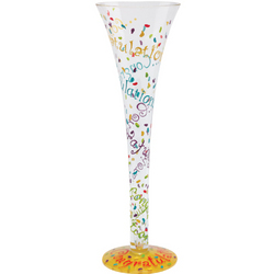 Congratulations Hand-Painted Champagne Glass