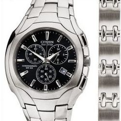 Stainless Steel Men's Watch & Bracelet Boxed Set