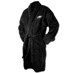 Philadelphia Eagles Black Terrycloth Logo Bathrobe