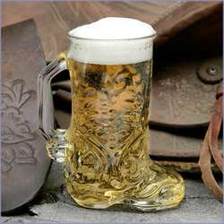 Western Boot Shaped Glass