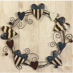 Americana Heart Wreath