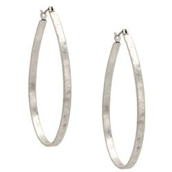 Lucky Brand Jeans Oblong Hoop Earrings