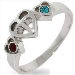 Austrian Crystal Birthstone Couples Purity Ring