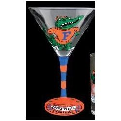 Florida Gators Handpainted Martini Glasses