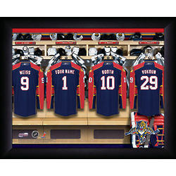 Personalized NHL Florida Panthers Locker Room Print