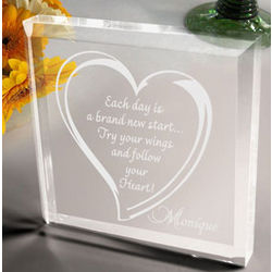 Personalized Follow Your Heart Paperweight