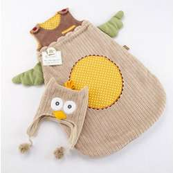 My Little Night Owl Baby Snuggle Sack and Cap