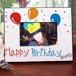 Personalized Happy Birthday Printed Picture Frame