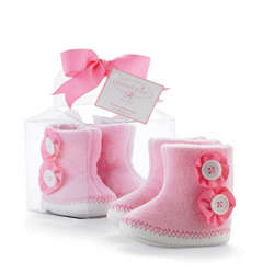 Pink Fleece Booties