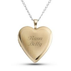 Gold Over Sterling Silver Heart Locket