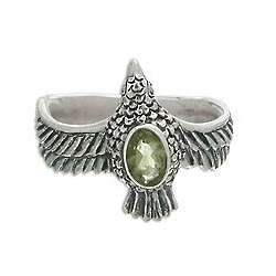 Peace Messenger Peridot Cocktail Ring