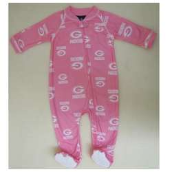 Green Bay Packers Girl's Full Zip Pink Sleeper