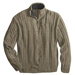 Men's Quarter-Zip Cable Sweater