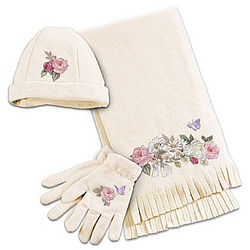 Garden's Perfection Women's Hat, Scarf, and Gloves
