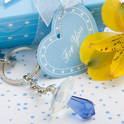 Choice Crystal Collection Boy Pacifier Keychain