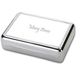 Silver Women's Personalized Jewelry Box