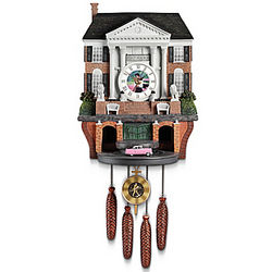 Elvis Graceland Cuckoo Clock with Lights, Music and Motion