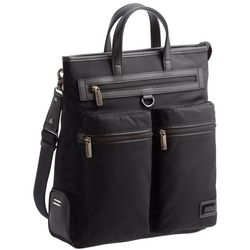 Deluxe Black Nylon Tote Bag
