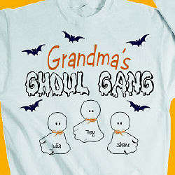 Ghoul Gang Personalized Halloween T-Shirt