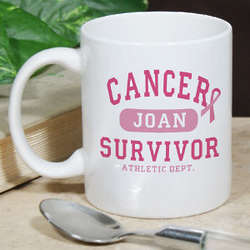 Personalized Breast Cancer Survivor Athletic Dept. Coffee Mug