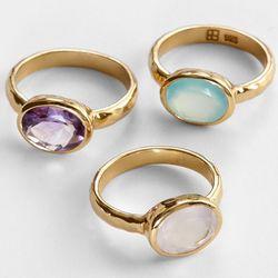 Gold-Plated Artisan Birthstone Ring