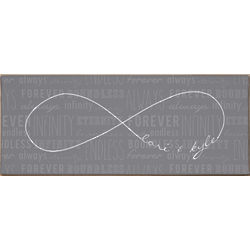 Personalized Infinity Symbol Wall Canvas