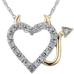 Diamond Devil Heart Necklace