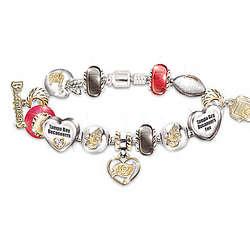#1 Fan's Tampa Bay Buccaneers Charm Bracelet