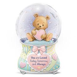 Precious Baby You Are Loved Glitter Globe