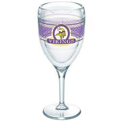 2 Minnesota Vikings 9 Oz. Tervis Wine Glasses