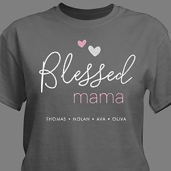 Personalized Blessed Women's T-Shirt