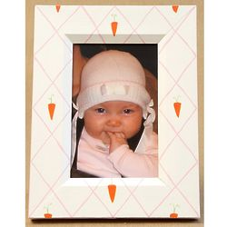 Carrot Trellis Hand Painted 4x6 Picture Frame