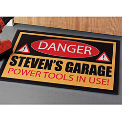 Personalized 18 x 27 Danger Doormat