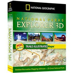 National Parks Explorer 3D Mapping Computer Software