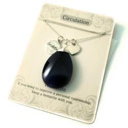 Circulation Hematite Pendant Necklace