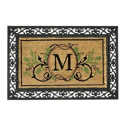 Holiday Monogrammed Doormat