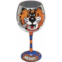 Auburn University Tigers Handpainted Wine Glasses