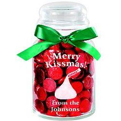 Personalized Merry Kissmas Treat Jar