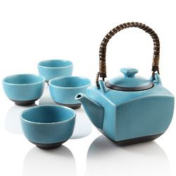 Biwa Blue Teapot Set