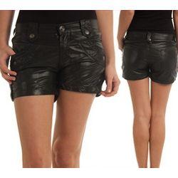 Pleather Rockstar Mini Shorts