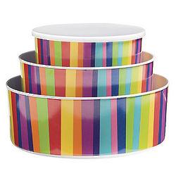 Striped Melamine Bowls