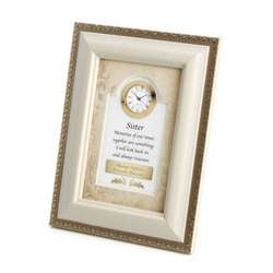 Sister Clock Picture Frame