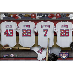 Washington Nationals Personalized Locker Room 16x24 Canvas Print