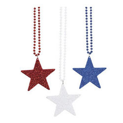 Red, White and Blue Star Necklaces
