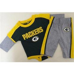Green Bay Packers Newborn Creeper and Pants Set