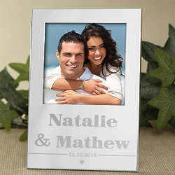 Sweethearts Engraved Silver Picture Frame