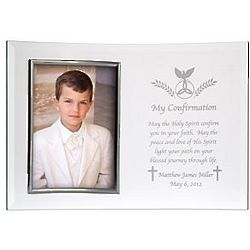 Confirmation Personalized Beveled 5x7 Glass Frame