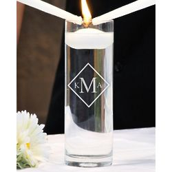 Personalized Diamond Monogram Floating Unity Candle