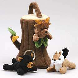 Finger Puppet Tree House Toy