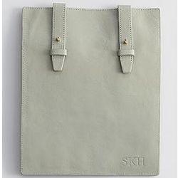 Misty Blue iPad Leather Bag